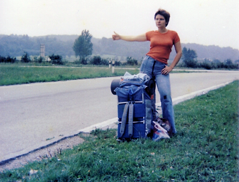 A hitchhiker in Luxembourg on 18 or 19 Aug 1977